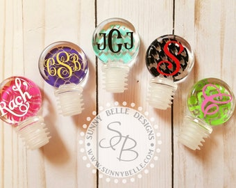 Personalized Wine Bottle Stopper; Christmas Gifts for Her; Coworker gifts; wedding party gifts; bridesmaids and groomsmen gifts