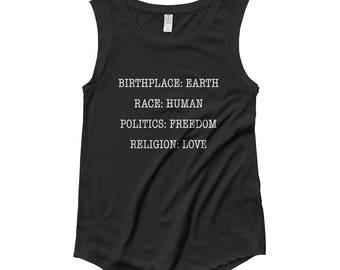 Freedom + Love Flowy Cap Sleeve Tee