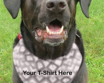 Custom, Up-Cycled, New Uses, Old Shirt, Reuse, Recycle, Dog, Pet, Pup, Over The Collar, Slip On, Bandana, Neckerchief