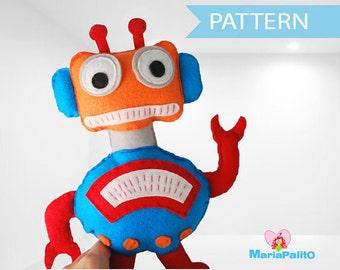 Robot Sewing Pattern, Robot Toy Pattern, PDF Sewing pattern A1084