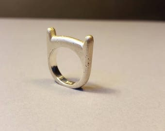 Silver Adventure Time Finn ring!