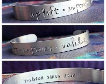 uplift • empower • validate cuff
