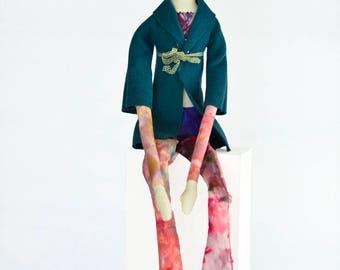 Laura, a handmade linen doll