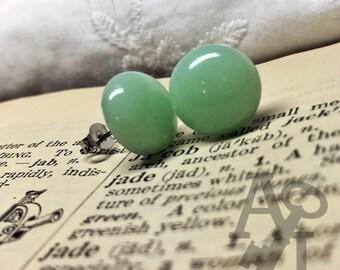 Vintage Jadeite Glass Post Earrings