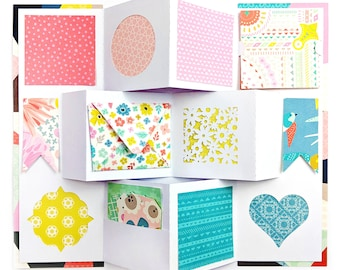 Mini Album Card with Pocket, Tags, Envelope, Accordion File .SVG .DXF