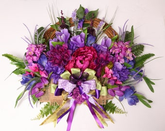 Spring wreath Spring Wreath, Mariana Flores painter and Creations