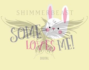 Easter SVG | Some Bunny Loves Me SVG | easter svg files | easter svg designs | easter svg boy | easter svg girl | easter svg baby | bunny