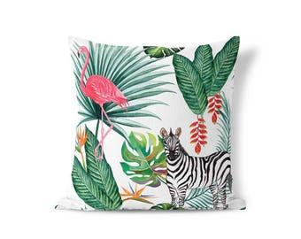 Green Palm Pillow - Palm Leaf Pillow - Pillow Sham - Throw Pillow Cover - Decorative Pillow - Textured Pillow - Cushion Cover- Accent Pillow