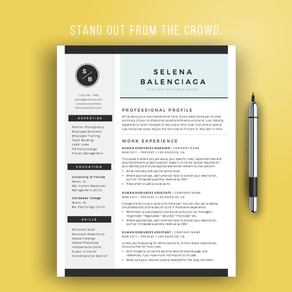 Sale Creative Resume Template For Word Creative Cv Template