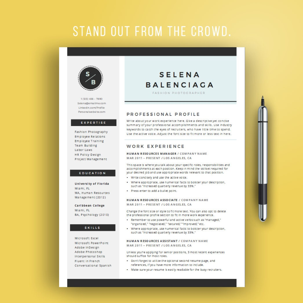 Sale Creative Resume Template For Word Creative Cv Template