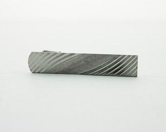 Zurich Tie Clip - TT202 - Silver Tie Clip - Vintage Tie Clip