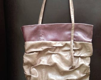 SALES! Leather handbag leather tote leather shopper leather bag italian hobo bag italian leather handmade bag italian unique bag