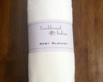 Snow White Flannel Baby Blanket /Swaddle Blanket/Newborn Flannel Blanket