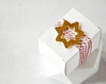 Gold Wood Stars {5} Rustic Stars Embellishments | Holiday Festive Stars | Christmas Stars | Star Shapes Embellishments | Christmas in July