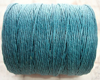 7ply Irish Waxed Linen Cord - Teal - 1 Yard