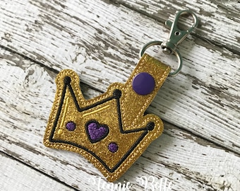 Crown Keychain, Backpack Clip, or Purse Clip- Glitter