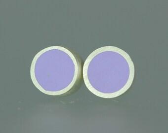 Resin Studs - Resin Sterling Studs - Purple Resin Studs - Lavender Resin Silver Posts - Lilac Resin Earrings - Sterling Resin Studs - Pastel