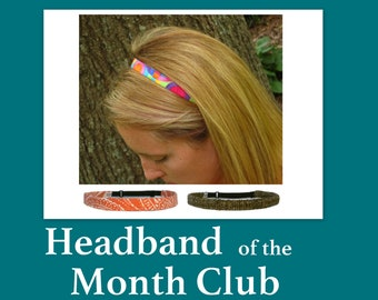 Headband of the Month Club, Monthly Headband Subscription for Women Girls and Men, Surprise Headband Gift