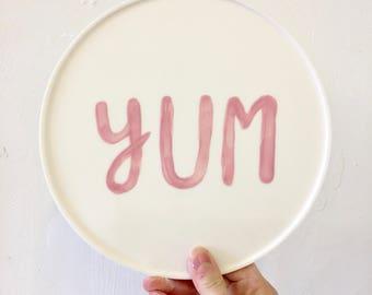 Yum - Illustrated by Bethany Thompson - Handmade porcelain/parian decorative planter