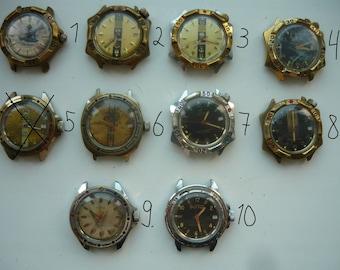 Only 6,9 USD for Vostok komandirskie wrist watch! Movement run condition! / U-boat 1945 Tank vostok, wostok amphibia, komandirskie, soviet.
