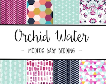 Orchid Water Baby Bedding - Watercolor Baby Bedding - Arrow Crib Sheet - Navy Crib Sheet - Purple Crib Sheet - Crib Bedding-Crib Blanket