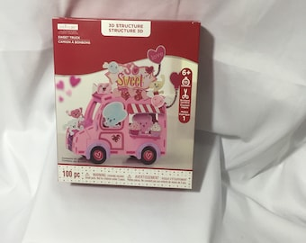 Creatology Valentines Day Sweet Truck 3D Structure Crafts New In Box  100 Pieces