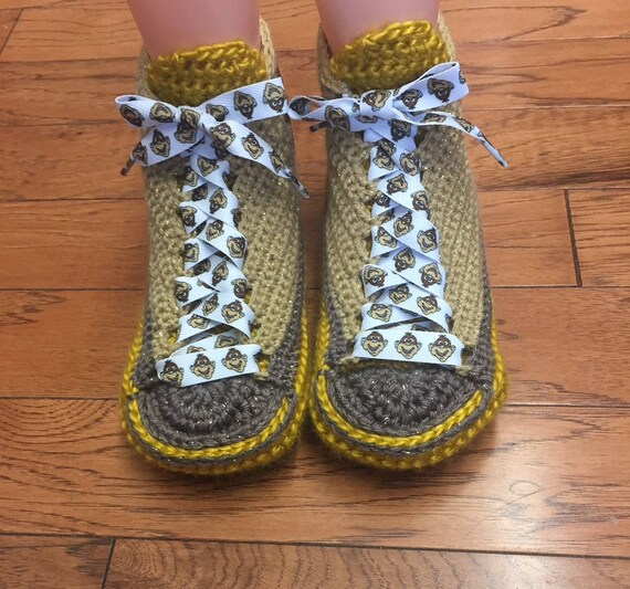 shoes 8 10 Crocheted crocheted Slippers monkey house slippers shoes Listing Womens Sneaker monkey sneakers sneakers 193 monkey Shoe Tennis q4wfqpZP