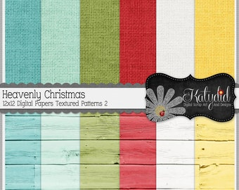 Christmas Digital Paper Heavenly Christmas Digital 12x12 Textures 2 Holiday Seasonal Papers and Backgrounds INSTANT DOWNLOAD