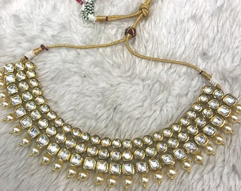 Indian necklace   Wedding Jewelry   White Indian Jewelry   Desi Jewelry   Indian Bridal Jewelry   Kundan Jewelry   Indian Wedding Jewelry  