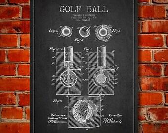 1902 Golf Ball Patent, Canvas Print,  Wall Art, Home Decor, Gift Idea