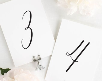 """Delicate Romance Table Numbers - 5x7"""""""