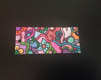 All original bookmark. Drawn and colored by me.