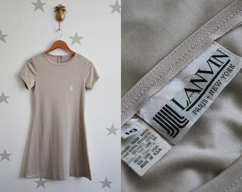 Vintage LANVIN sport dress, tennis-style Jean Lanvin vintage dress, 1970s Lanvin dress