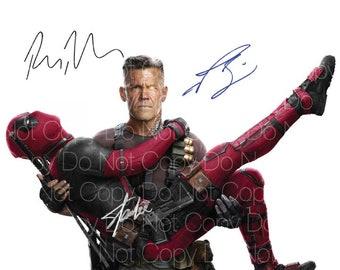 Deadpool signed Ryan Reynolds Stan Lee Josh Brolin 8X10 photo picture poster autograph RP
