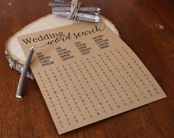 Wedding Word Search . Bridal Shower Word Search . Bridal Word Search . Printable Instant Download . Bridal Shower Game . Bridal Activity .