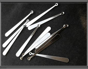set of 30 pendants drops creating metal earrings
