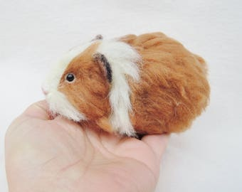 Custom needle felted guinea pig- hamster - made to order - custom pet portrait - memorial sculpture
