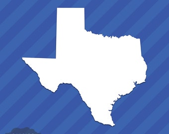 Texas TX State Outline Vinyl Decal Sticker