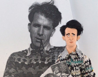 Mervyn Peake Doll Miniature Art Caricature Figure