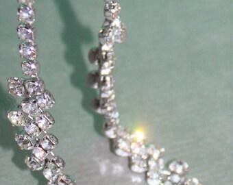 Grace Kelly Style Faux Diamond Choker Necklace. Mid Century Fashion Jewellery c1960s.