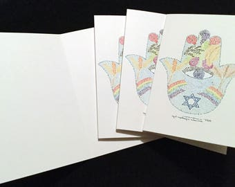 Micrography Greeting Card: Chamsa / Song of Songs (Blank Inside)