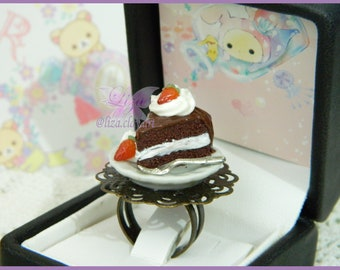 Cake Ring / Kawaii Ring / Miniature Food Ring / Cake Jewelry