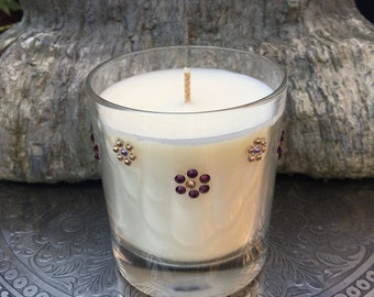 Large/Luxury/Pure Essential oil candle/Hand poured/hand decorated/made with soy wax