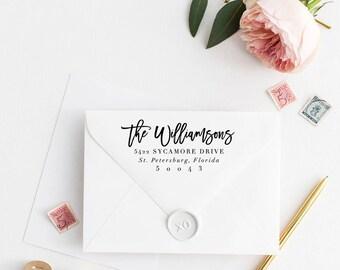 Custom Return Address Stamp, Self Ink Return Address Stamp, Personalized Address Stamp, Calligraphy Address Stamp Return Address Stamp No41