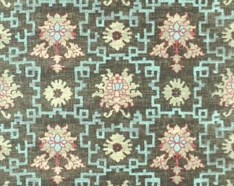 "Jim Thompson ""Peony Trellis"" Fabric Drapery Panels"