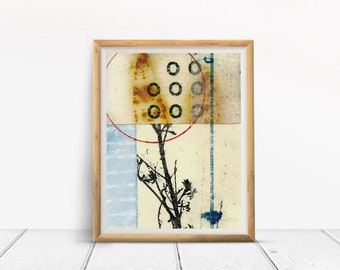art print, TRIPLE ZERO, collage art