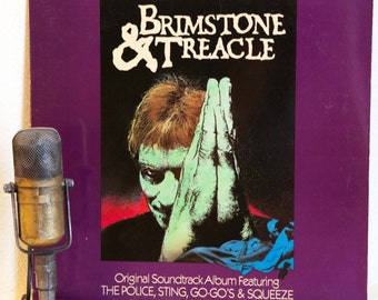 """Sting and The Police Vinyl Record Album 1980s Stage and Screen Classic Rock Soundtrack """"Brimstone and Treacle""""(1982 A&M w/""""I Burn For You"""")"""