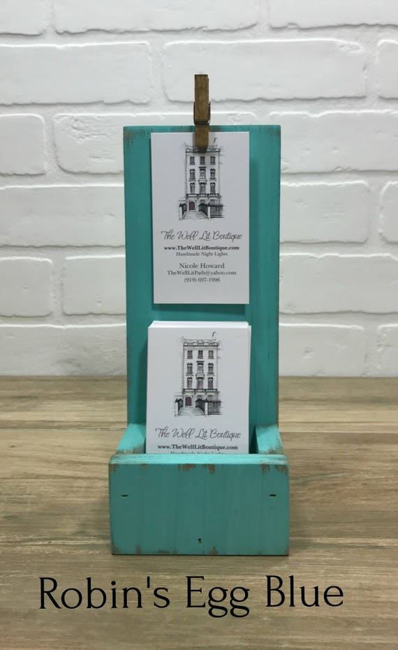 Farmhouse Vertical Business Card Holder//Shabby Chic Business