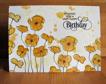 Bithday Poppies card