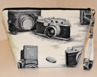 Vintage Cameras print project bag